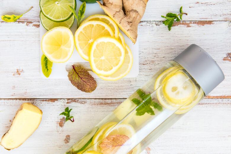 détox water au gingembre