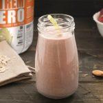 strawberry and almond milk smoothie