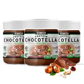 Chocotella Healthy - pâte chocolat protéinée à tartiner - Lot de 3