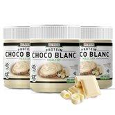 Choco Blanc - Pâte à tartiner protéinée au Chocolat Blanc - Lot de 3